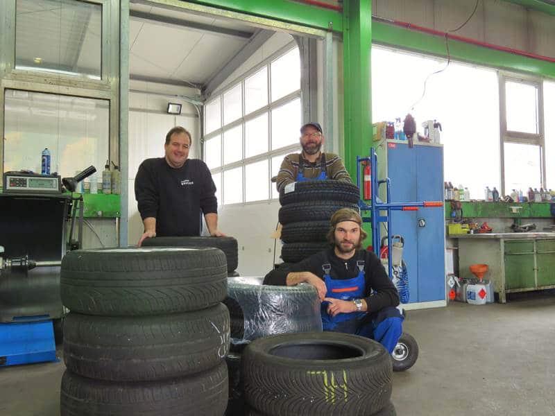 Reifenwechsel Team Brucher Nordrach